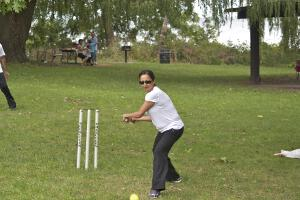 Ladies play cricket too!